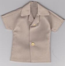 Homemade Doll Clothes-Awesome Solid Khaki Colored Shirt fits Ken Doll B2