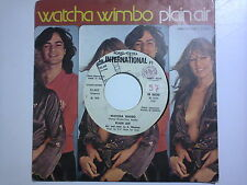 Plain Air ‎/ Watcha Wimbo - Lovin' You  ‎– Disco Vinile 45 giri promozionale