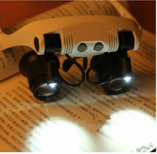 10x 15x 20x 25x LED Headband Binocular Magnifier for Watch PCB Working Repair