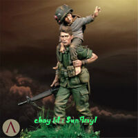 Model Kits Soldier Rescue Girl 1/24 Figure Resin Unpainted Unassembled 3''H