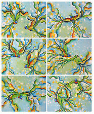 6 x LARGE PLACEMATS (360x290mm) - AUSTRALIAN MADE - RAINBOW LORIKEETS