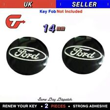 2x 14MM Compatible With FORD Car Key Sticker Fob Emblem Badge Radio Button
