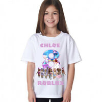 ROBLOX GIRLS PERSONALISED BIRTHDAY T-SHIRT/AGES 3-14 Great Birthday Gift