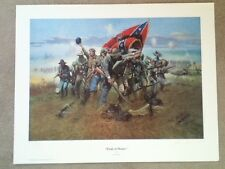 "Don Prechtel Limited Edition Print ""Field of Honor"" Confederate Signed 1985"
