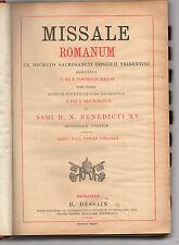 misal romano ex decreto s.s.tridentino conc. editio machliniae dessan -bélgica