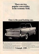 1964 Triumph 1200 2-Door Convertible PRINT AD