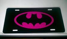 Batman car tag/ license plate (pink)