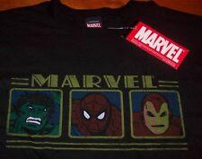 VINTAGE STYLE RON MAN SPIDER-MAN HULK Marvel Comics T-Shirt XL NEW The Avengers