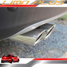 2x Steel Exhaust Pipe Muffler Tips for VW Volkswagen Golf 7 MK7 2013 up vw130