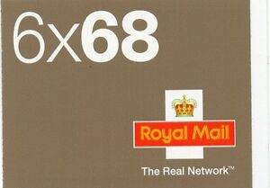 2003 6 x 68 self adhesive booklet the real network sg NB2 cat £38