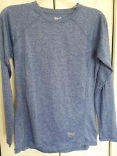 Everlast Sport Women's L/S athletic T-Shirt  M blue melange base layer EUC