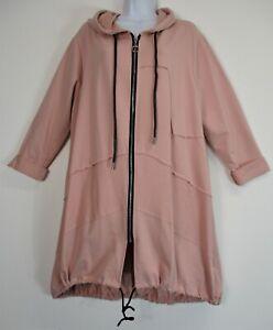 New Lagenlook Ladies/ Womens  95% Cotton Oversized Hoody /Zip-up Jacket Pockets