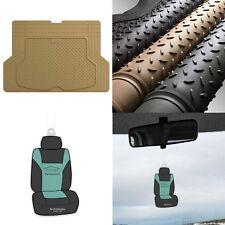 Trimmable Trunk Mat Cargo Liner for Auto Car Sedan SUV Van Tan w/ Air Freshener