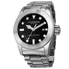 Akribos XXIV AK730SSB Water-Resistant Divers Bracelet Mens Watch
