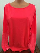 * $85 Womens M Nike Athletic Training Shirt Top Neon Dri Fit Crimson 589296