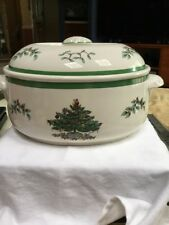 SPODE Tureen Or Large Covered Bowl Christmas Tree