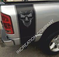 Skull Vinyl Decals For Chevrolet Colorado Rear side graphics bed Stripes 4x4 art