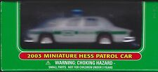 COLLECTIBLE New 2003 Miniature HESS GASOLINE PATROL CAR MINI POLICE CRUISER GAS