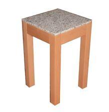 Beistelltisch, Blumenhocker Buche massiv Granit .30,5 x 30,5 x 55,0 cm hoch