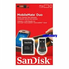 SanDisk MobileMate Duo microSD USB card reader with SD Adapter SDDRK-121