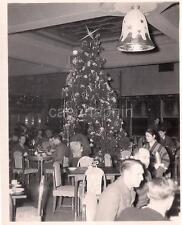 Post WWI US Servicemen In OKINAWA JAPAN Celebrating Christmas Tree 1940s Photo