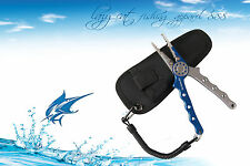 Professional grade multi functional medium spring loaded pliers for fishing