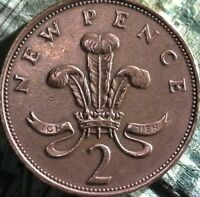 STUNNING 1979 2 cent NEW PENCE ELIZABETH II  FREE SHIPPING
