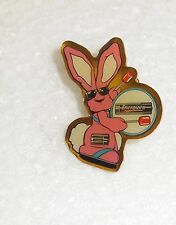 Energizer EverReady bunny promotional label pin collectible pin back trademark
