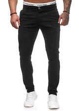 Herren Chino Skinny Fit Jeans Slim Hose Leg Stretch Elasthan W29-W38