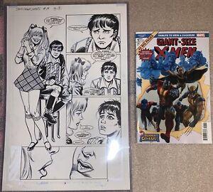 Dave Cockrum Original Comic Art Partial Splash Page + Free X-Men Marvel Tribute
