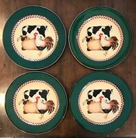 Set/ 4 Vtg. International Tableworks 18 Henry & Co Country/Farm Dinner Plates