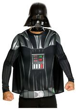 ADULT DARTH VADER TOP AND MASK COSTUME SIZE MEDIUM