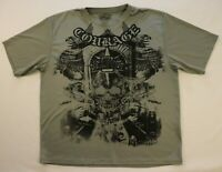 Courage MMA Elite T-shirt L Large Gray Mix Martial Arts Athletic 100% Polyester