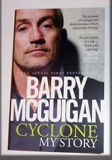 BARRY McGUIGAN BOXING PERSONALLY SIGNED CYCLONE AUTOGRAPH PAPER BACK BOOK