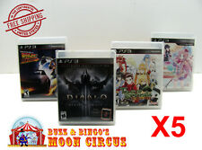 5x SONY PS3 CIB GAME - CLEAR PLASTIC PROTECTIVE BOX PROTECTOR SLEEVE CASE