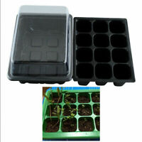 12 Hole Plant Flower Seed Growth Box Nursery Tool Garden Seedling Pot Plastic