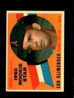 1960 TOPPS #137 LOU KLIMCHOCK EX (RC) ATHLETICS RS  *SBA0469