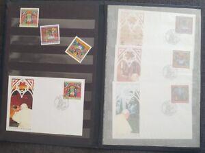 Pope John Paul II collectible stamps znaczki religion | antykwariat