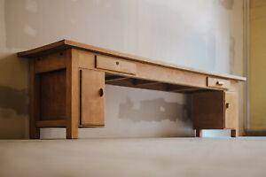 große Werkbank Schreibtisch Tisch Holz antik alt Vintage Sideboard