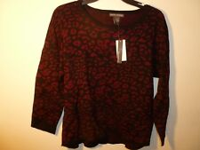 Chelsea & Theodore Ladies Pullover Sweater Size L Color Burgundy NWT MSRP $78