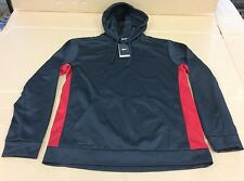 NIKE 650733 KNOCKOUT 3.0 BLACK XL PULLOVER THERMA-FIT MENS XL HOODIE MSRP $50