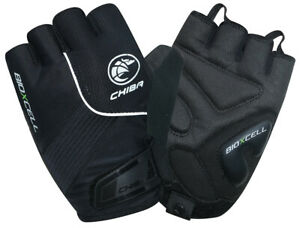 Chiba Bio-X-Cell Pro-Line Cycling Mitts in Black (XX-Large)