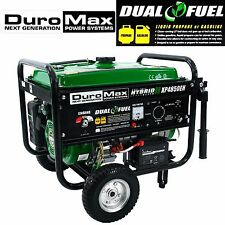 Duromax Generator Portable Power Dual Fuel Propane Gas Gasoline Electric Watt