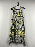Tempted hearts 60's 70's psychedelic Go Go Yellow, Black, Gray Dress Size L