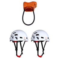 4pcs 25KN ATC Climbing Rappel Belay Device Safety Climbing Helmet Hard Hat