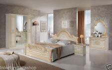 Wood Veneer Bedroom Furniture Sets with Mirror 6 Pieces
