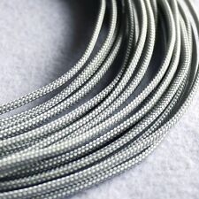 5 meters Silver grey High Densely 3mm Expanding Matte Braided Sleeving Cable