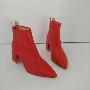 AGL Ankle boot with half-moon heel Red Orange Colorblock 36
