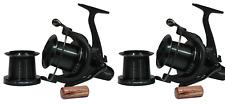 2 X Sonik Dominator X 8000 Big Pit Carp Reels + spare spools Fishing RRP £200