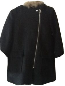 New Look. Navy Milly Biker Duffle Coat . Size 10 Nwt